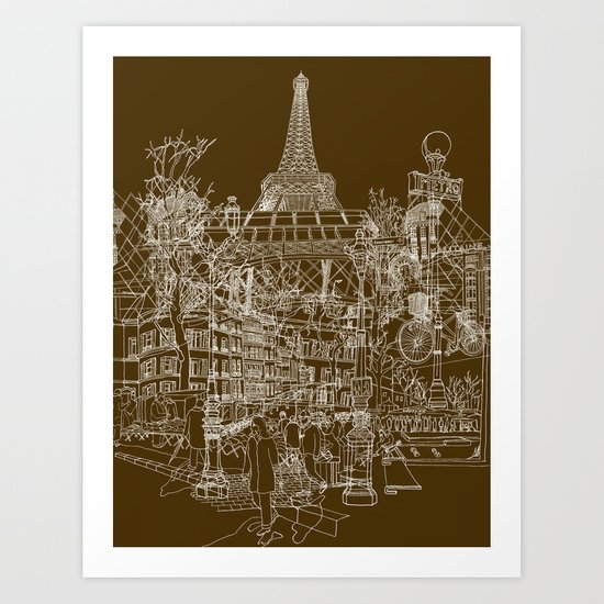 Paris! Art Print