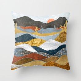 Desert Cold Throw Pillow