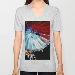 Electric Flower Unisex V-Neck