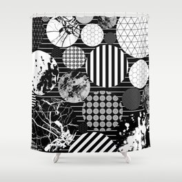 Eclectic Circles II Shower Curtain