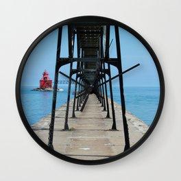 Canal Pierhead Light House Pier Wall Clock