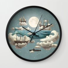 Ocean Meets Sky - colour option Wall Clock
