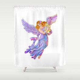 The Antique Angel Muse - Love of Poetry Shower Curtain