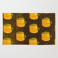 pumpkin Area & Throw Rugs featuring pumpkin by marella