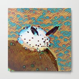 Sea Bunny Dream | Painting Metal Print