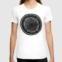 tree rings T-shirts featuring Tree Rings by Irene Leon