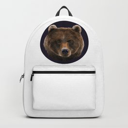 Brown Bear illustration by artist Robert Clear Backpack
