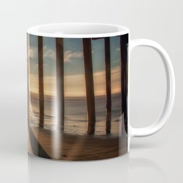 Through the Blinds sun bursts through Avila Pier Avila Beach California Coffee Mug