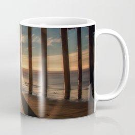 Through the Blinds sun bursts through Avila Pier Avila Beach California Coffee Mug