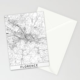 Florence White Map Stationery Cards