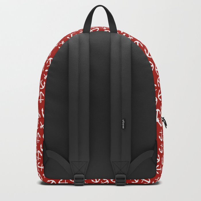 Maritime small Nautical Red and White Anchor Pattern - Anchors on #Society6 Backpack