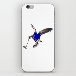 Canada Goose Playing Hockey iPhone Skin