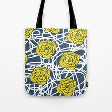 YELLOW ROSE SQUIGGLE Tote Bag