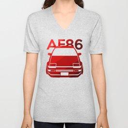 Toyota AE86 Hachi Roku - classic red - Unisex V-Neck