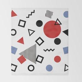 Retro Memphis Design Pattern Throw Blanket