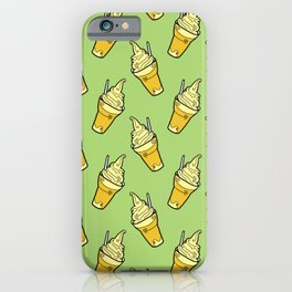 Sweet Little Pineapple Floats on Jungle Green iPhone Case
