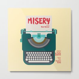 Misery, Horror, Movie Illustration, Stephen King, Kathy Bates, Rob Reiner, Classic book, cover Metal Print