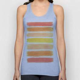 Orange Striped Abstract Unisex Tank Top