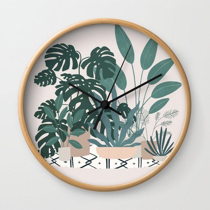 houseplant gang Wall Clock