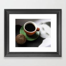 Coffee break over art Framed Art Print