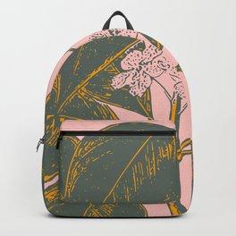 Modern Botanical Banana Leaf Backpack