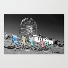 Beside the seaside, beside the sea Canvas Print