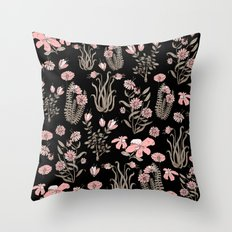 PINK FLOWER AT NIGTH Throw Pillow