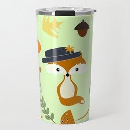 Cute fox in autumn Travel Mug
