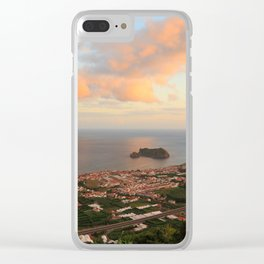 Coastal town in Azores Clear iPhone Case