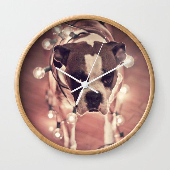 Will work for treats Wall Clock