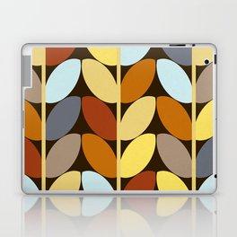 Retro 70s Color Palette Leaf Pattern Laptop & iPad Skin