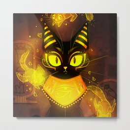 Bastet- the Goddess of Cats Metal Print