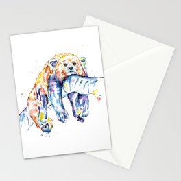Red Panda - The Long Day Stationery Cards
