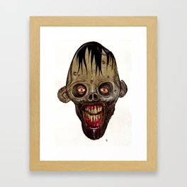 Heads of the Living Dead Zombies: Goonie Zombie Framed Art Print