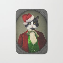 Puccini goes to a Christmas Party Bath Mat