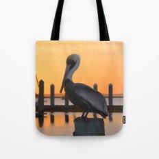 sunset pelican Tote Bag