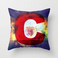 Colorado Flag/Galaxy Print Throw Pillow