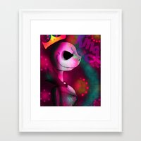 jack skellington Framed Art Prints featuring jack skellington by JACK'S Art