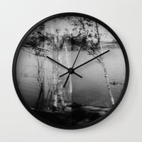 swimming Wall Clocks featuring swimming  by Lydia Brodde