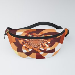 Orange Brown Cream Kaleidoscope Fanny Pack