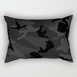 Camouflage Black Rectangular Pillow