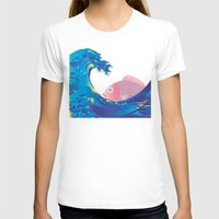 hokusai T-shirts featuring Hokusai Rainbow & Jpanese Snapper  by FACTORIE