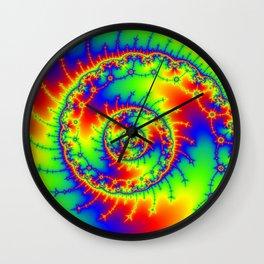 """Psyspiral"" Psychedelic Spiral Fractal Art Wall Clock"