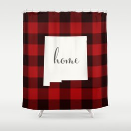New Mexico is Home - Buffalo Check Plaid Shower Curtain
