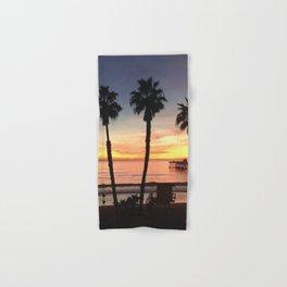 California Beach Sunset Hand & Bath Towel