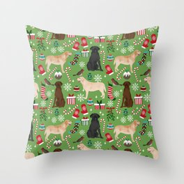 Labrador retrievers christmas festive holiday gifts for dog lover in your life dog breeds custom art Throw Pillow