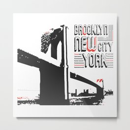 New York Brooklyn Bridge Metal Print