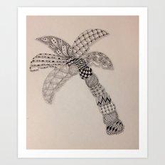 Zentangle Palm Tree Art Print