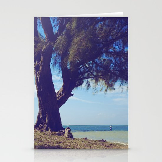 Fisherman in the distance, Mauritius Stationery Cards