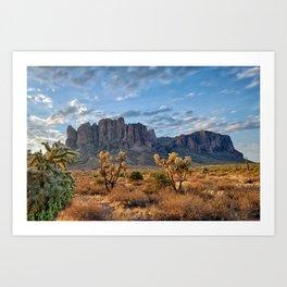 Superstition Landscape Art Print